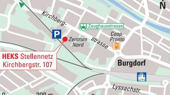 Situationsplan Kirchbergstrasse 107 in Burgdorf